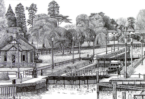 Teddington Lock, Middlesex