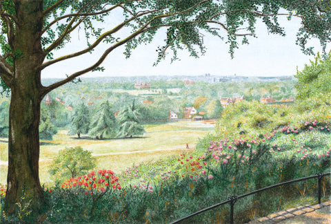 View from Pembroke Lodge Gardens - Richmond Park