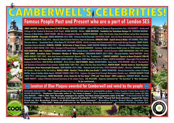 Camberwell Celebrities! (A3 poster)