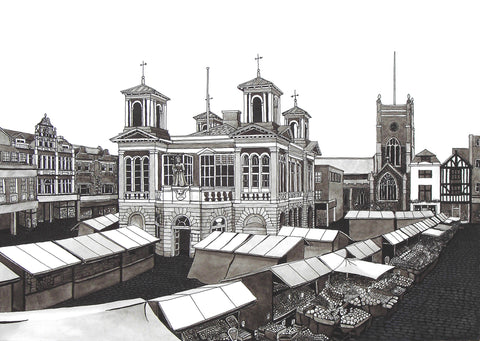 Market Place - Kingston Upon Thames - Black & White