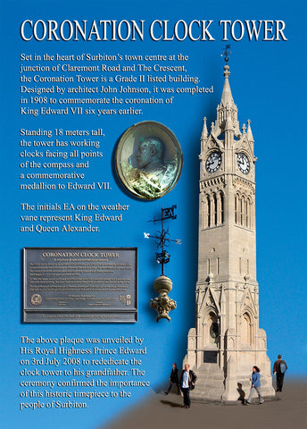 Coronation Clock Tower - Surbiton - Surrey