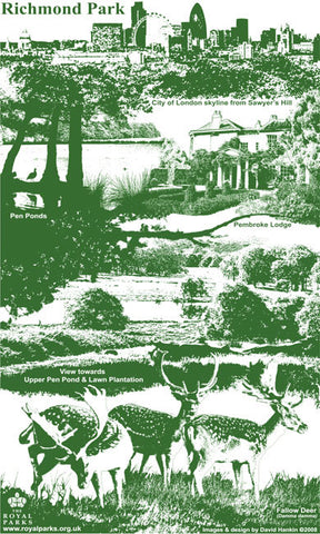 Richmond Park Tea Towel
