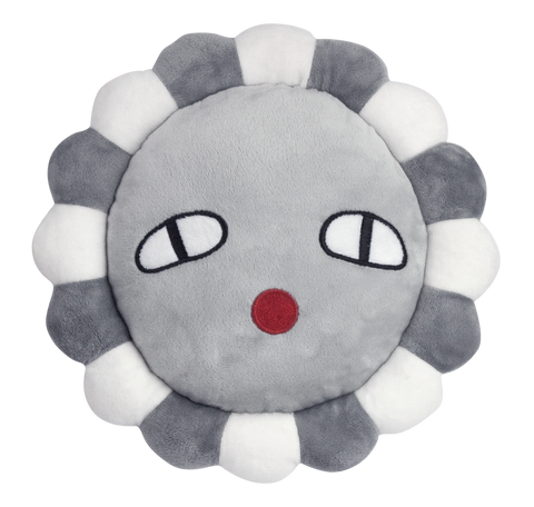 Polly Flower Grey Cushion by Lucky Boy Sunday