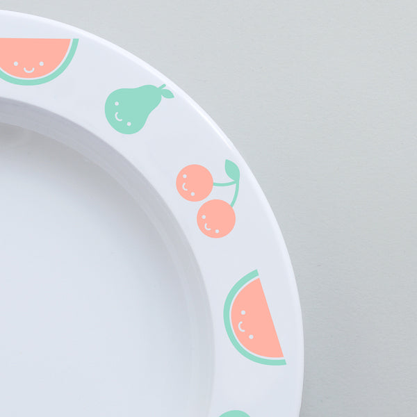 Fruit Friends Plastic Plate Color by Buddy and Bear