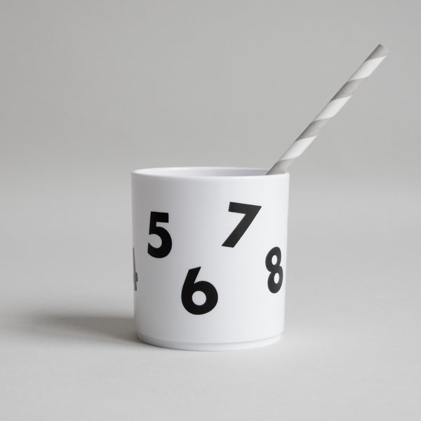 Number Tumbler in White by Buddy and Bear