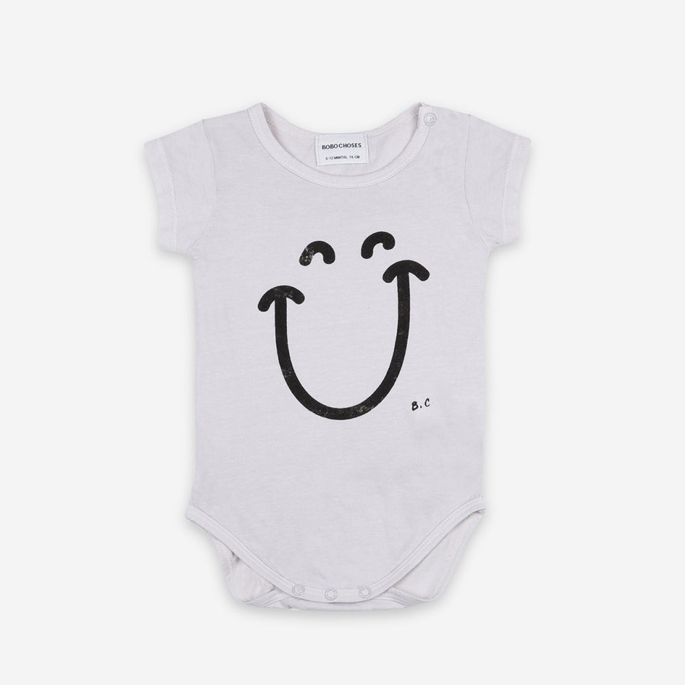 Baby Big Smile Short Sleeve Bodysuit by Bobo Choses