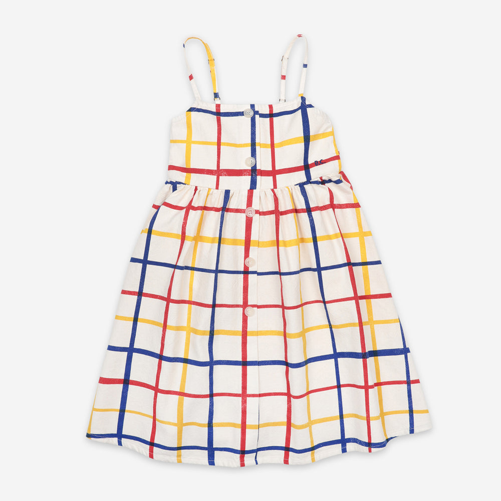 Multicolor Checkered Woven Dress by Bobo Choses