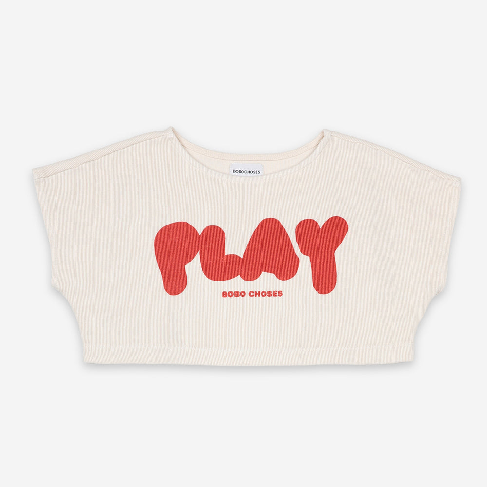 Play Cropped Sweatshirt by Bobo Choses