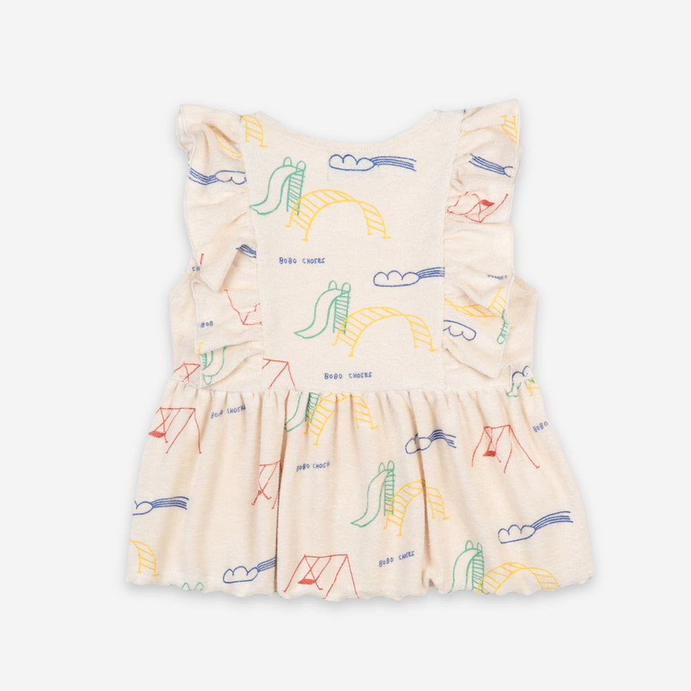 Playground All Over Ruffle Top by Bobo Choses