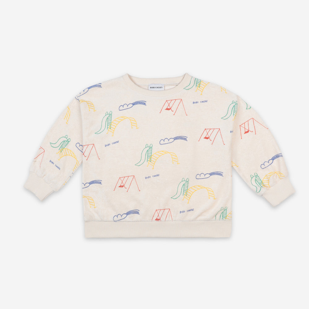 Load image into Gallery viewer, Playground All Over Terry Fleece Sweatshirt by Bobo Choses