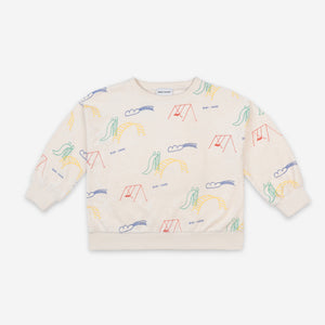 Playground All Over Terry Fleece Sweatshirt by Bobo Choses