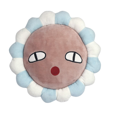Polly Flower Blue Cushion by Lucky Boy Sunday