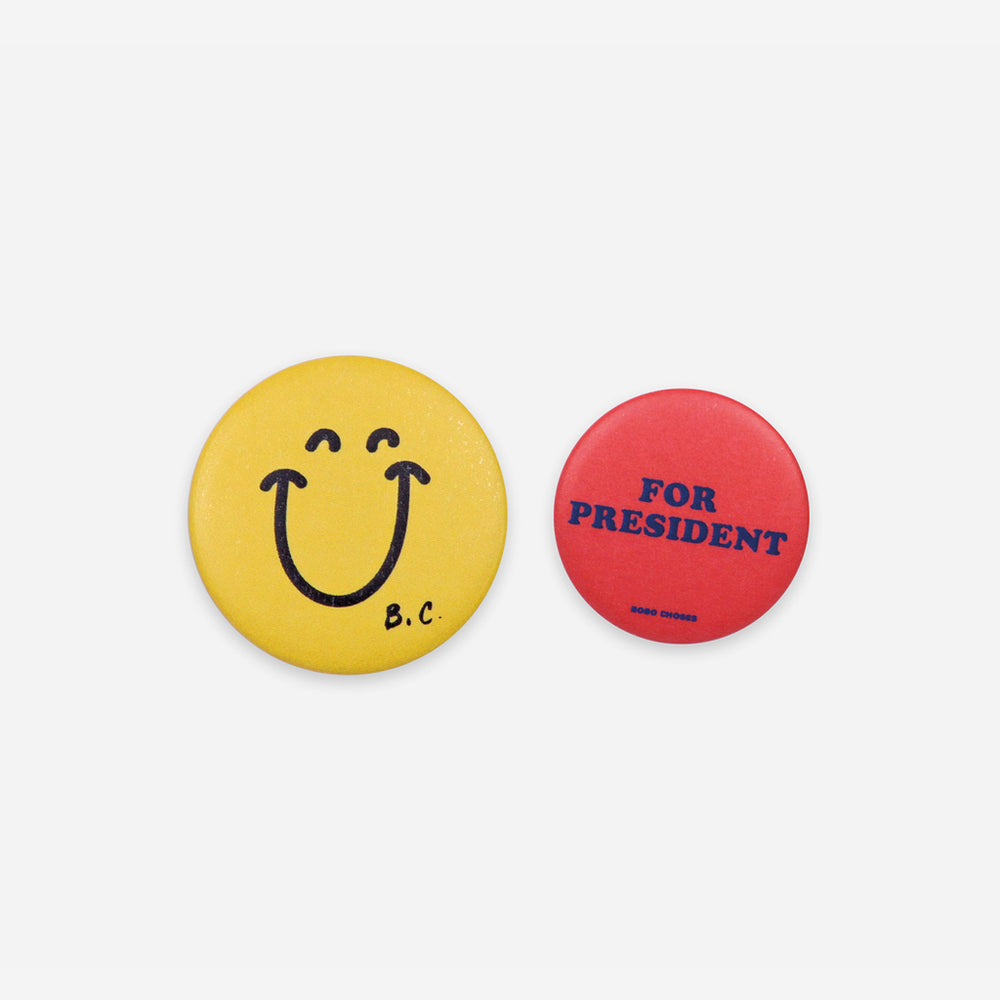 Smile and President Badge by Bobo Choses