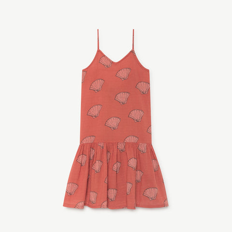 Mouse Kids Dress in AOP Shells by The Animals Observatory