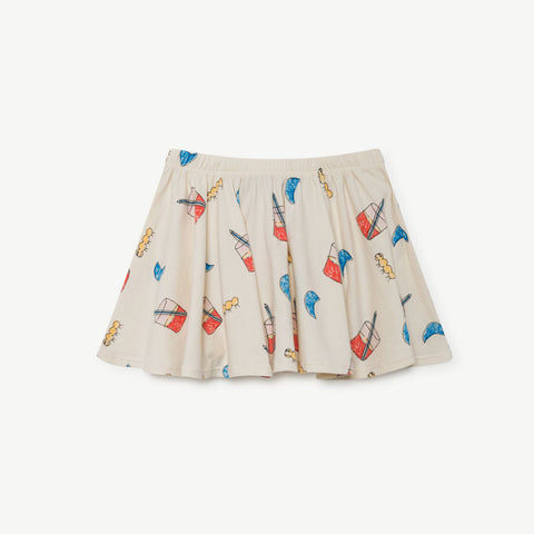 Pelican Kids Skirt in Glasses by The Animals Observatory