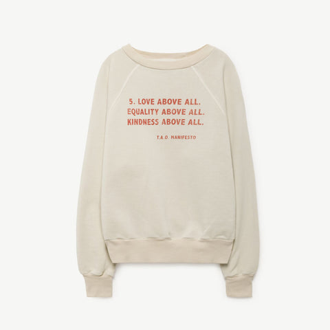 Shark Kids Sweatshirt Manifesto by The Animals Observatory