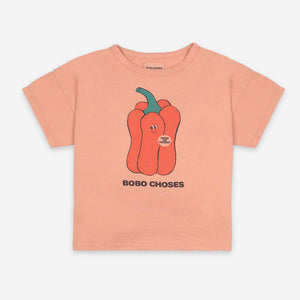 Vote for Pepper Short Sleeve T-shirt by Bobo Choses