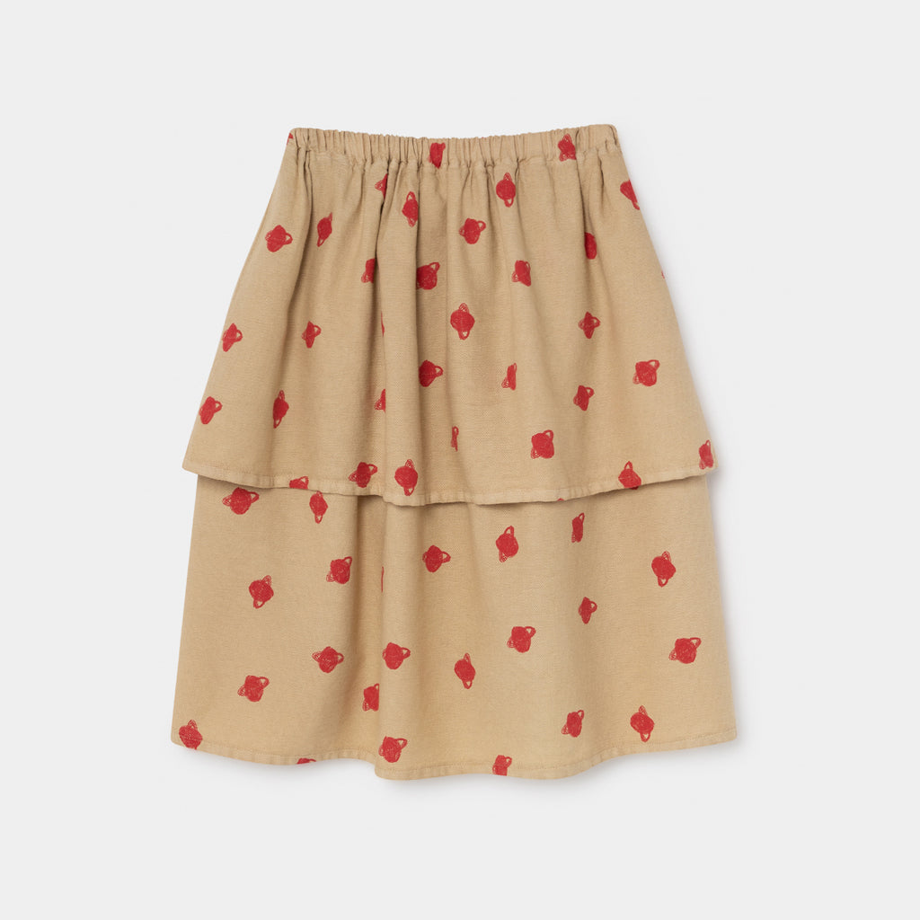 All Over Small Saturn Midi Skirt by Bobo Choses