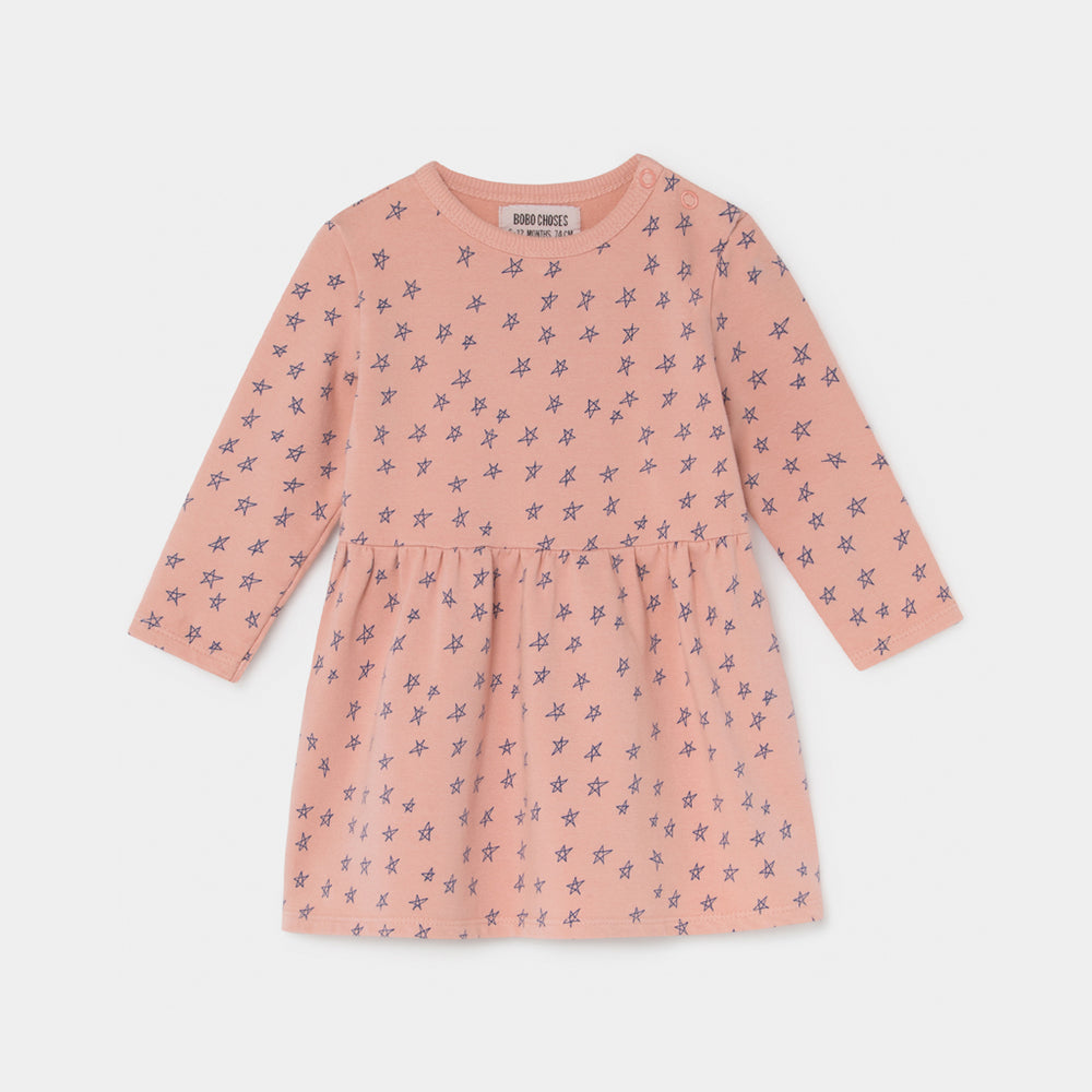 Baby All Over Stars Fleece Dress by Bobo Choses