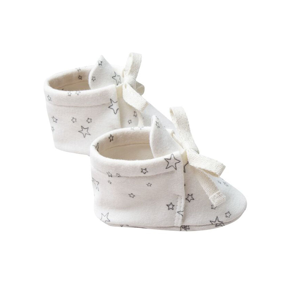 Baby Boots in Ivory by Quincy Mae