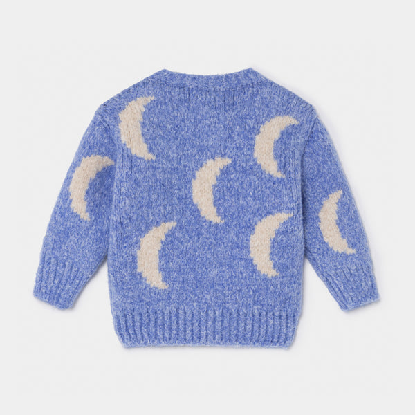 Baby Moon Jacquard Cardigan by Bobo Choses