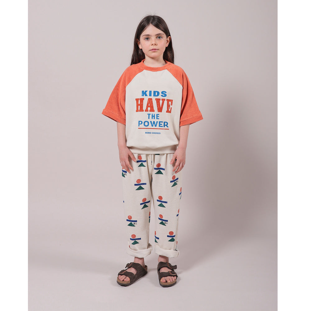 Load image into Gallery viewer, Balance All Over Fleece Pants by Bobo Choses