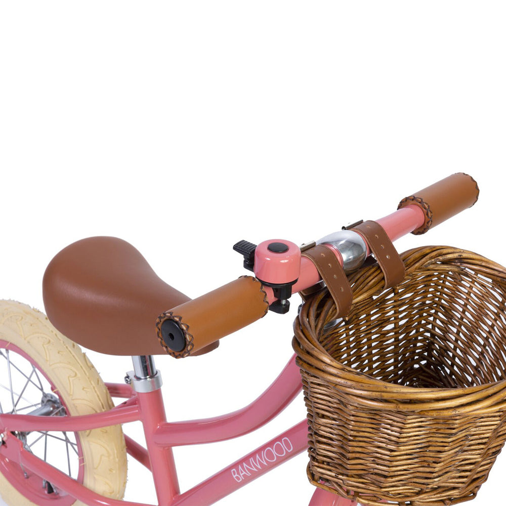 Load image into Gallery viewer, First Go! Coral Banwood Bike