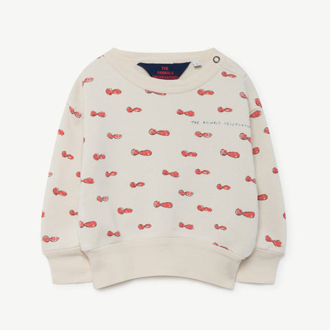 Bear Babies Sweatshirt in AOP Noseman by The Animals Observatory