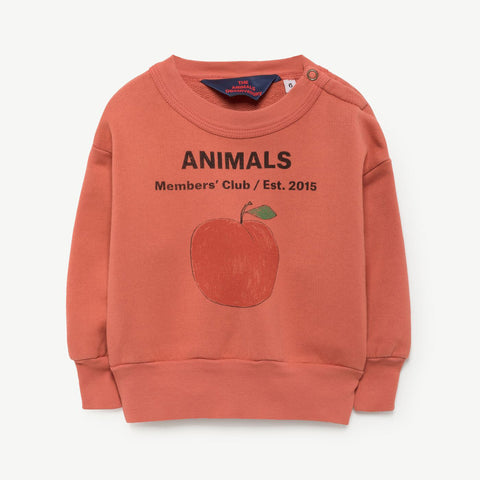 Bear Babies Sweatshirt in Red Peach by The Animals Observatory