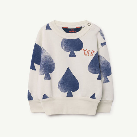 Bear Babies Sweatshirt in White Spades by The Animals Observatory