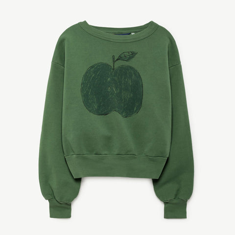 Bear Kids Sweatshirt in Green Apple by The Animals Observatory