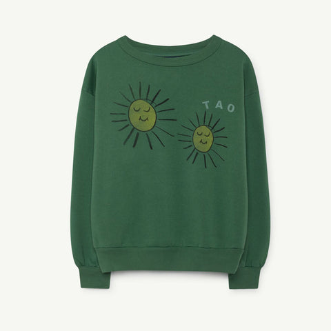 Bear Kids Sweatshirt in Yellow Suns by The Animals Observatory