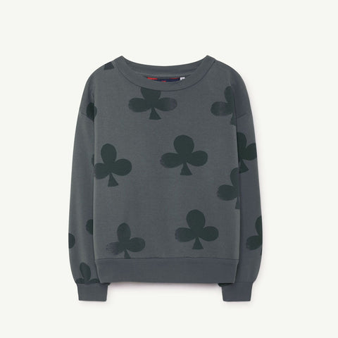 Bear Kids Sweatshirt in Grey Clovers by The Animals Observatory