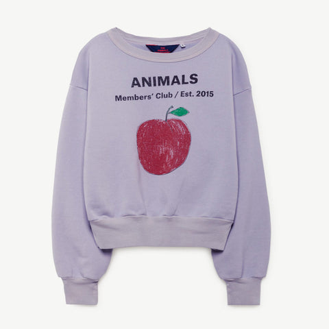 Bear Kids Sweatshirt in Lavaland Peach by The Animals Observatory