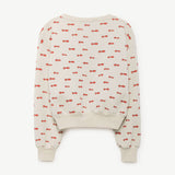 Bear Kids Sweatshirt in Raw White Noseman by The Animals Observatory