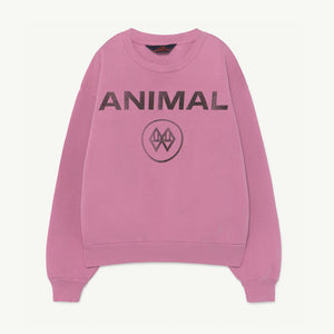 Bear Kids Sweatshirt Pink Animals by The Animals Observatory