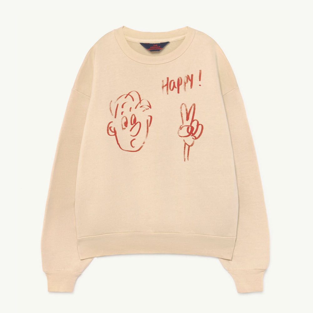 Bear Kids Sweatshirt Happy by The Animals Observatory