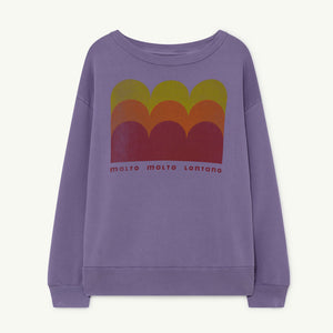 Bear Kids Sweatshirt in Purple Molto by The Animals Observatory