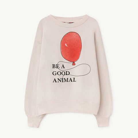 Bear Kids Sweatshirt in Red Balloon by The Animals Observatory