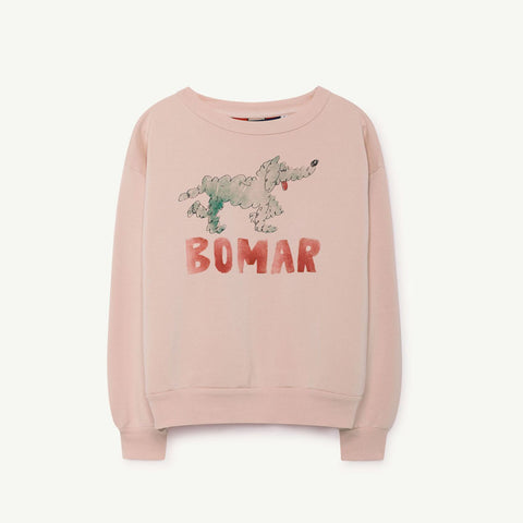 Bear Kids Sweatshirt in Rose Bomar by The Animals Observatory