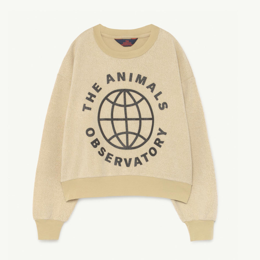 Bear Kids Sweatshirt Yellow Planet by The Animals Observatory