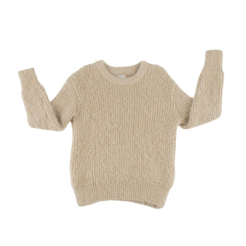 Beige Hairy Sweater by Tinycottons