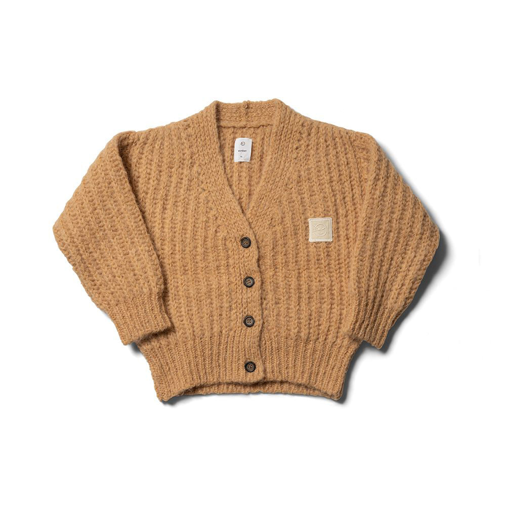 Load image into Gallery viewer, Big Rib Cardigan in Buttermilk by Wynken