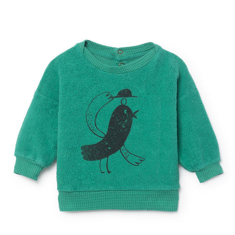 Bird Sheepskin Baby Sweatshirt by Bobo Choses