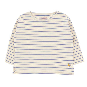 Bird Stripes Crop Tee by Tinycottons