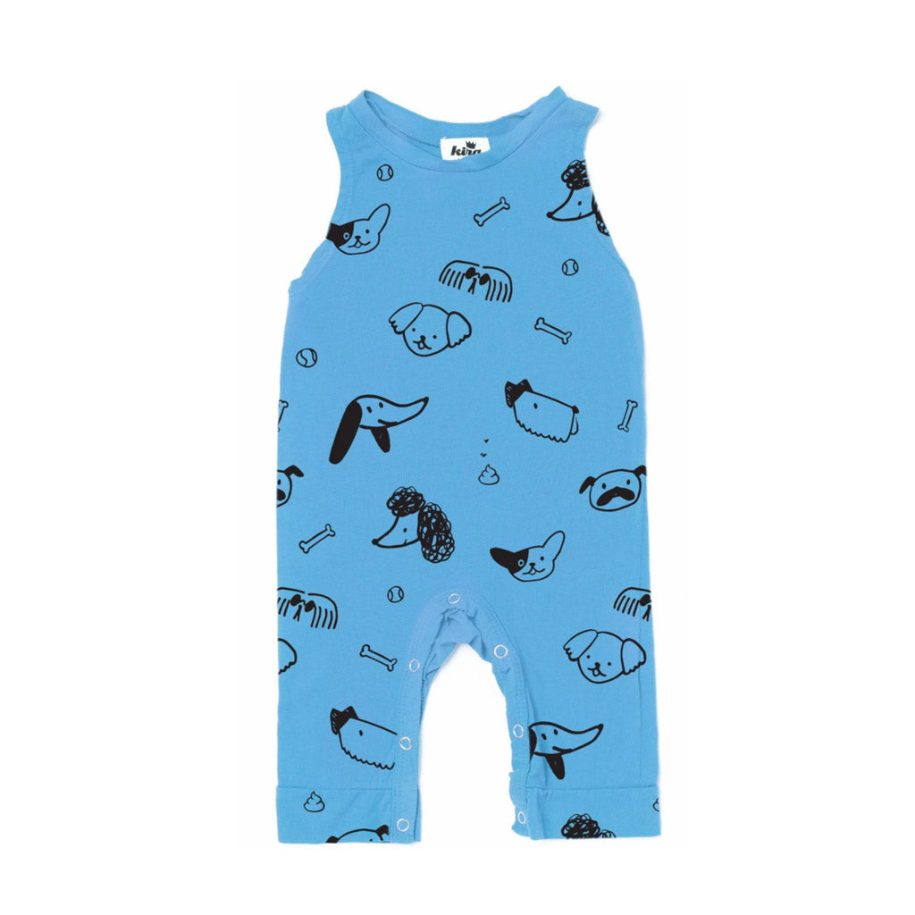 Blue Dogs Romper by Kira Kids