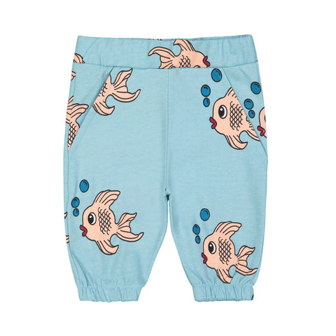 Blue Fish Knee Shorts by Hugo Loves Tiki
