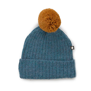 Load image into Gallery viewer, Bluestone Pom Pom Hat by Oeuf