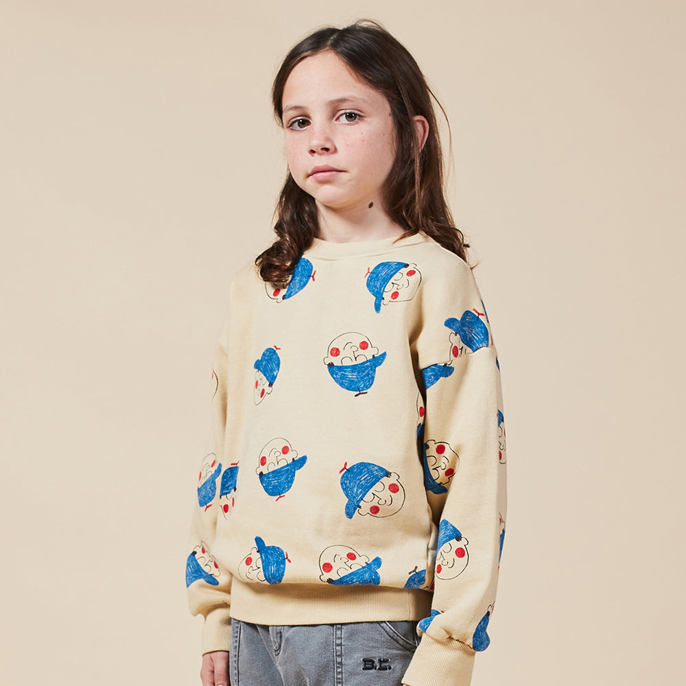 Load image into Gallery viewer, Boy All Over Sweatshirt by Bobo Choses