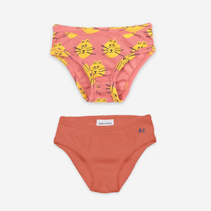 B.C and All Over Cat Girl Underwear Set by Bobo Choses